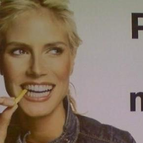 Heidi machte Werbung für Fastfood-Kette.