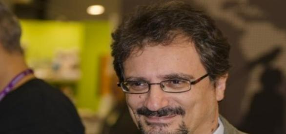 Albert Sánchez Piñol, en Göteborg (Suecia) en 2014