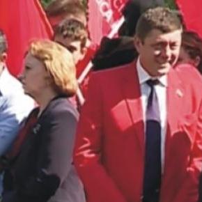 Oleg Paholkov,la un miting pro rus din Chisinau