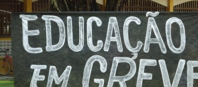 Greve dos professores em Santa Catarina