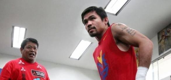 El filipino se prepara para la pelea del siglo