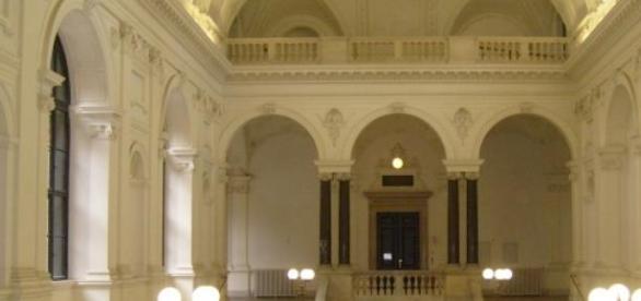 Innenansicht des Wiener Universitätsgebäudes.