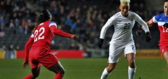 Lianne Sanderson was the match winner for England