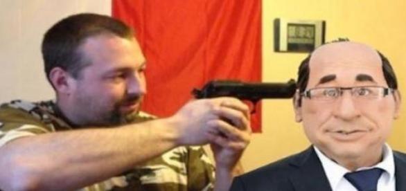 Le candidat FN sur son montage contre F. Hollande.