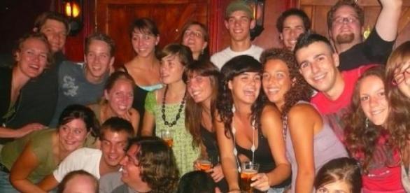 Erasmus-Studenten aus fünf Nationen.
