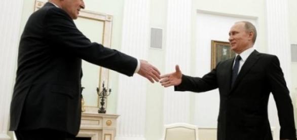 Vladimir Putin si Leonid Tibilov