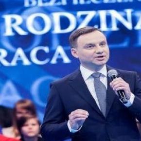 Andrzej Duda podczas wystąpienia.