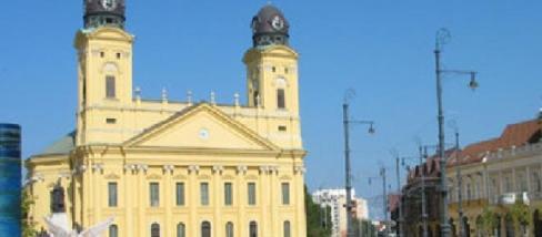 Napsütés a Debreceni Főtéren