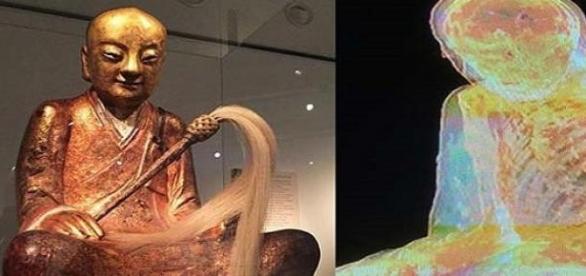 Buddha-szobor. Mi lehet a háttérben.