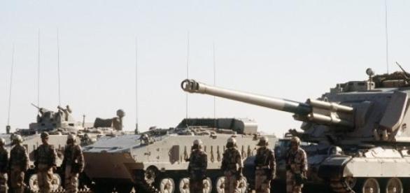 L'Arabie saoudite prête à défendre sa frontière.