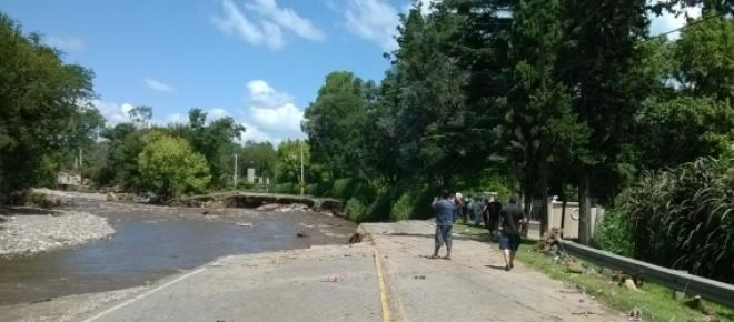 Ruta Intermunicipal, luego de las inundaciones.