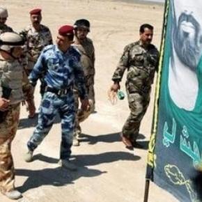 Tikrit, miliciens en patrouille.