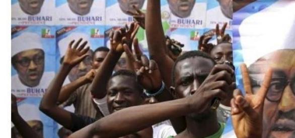 Sustinatorii candidatului Muhammadu Buhari, Kano