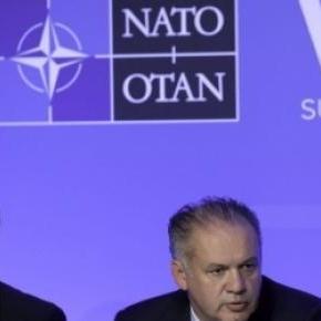 Presedintele Slovaciei la o intrunire a NATO