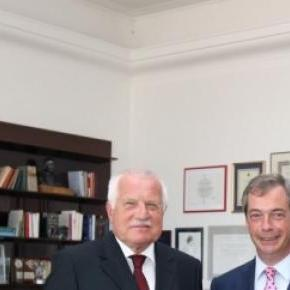 Nigel Farage with one of his UKIP supporters
