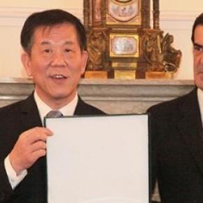 Rui Moreira e Tang Jie lider da comitiva chinesa