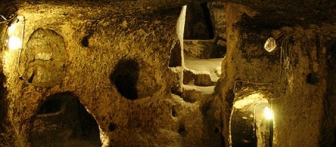 Cidade subterranea da turquia foi descoberta durante trabalhos de remoção de entulho<br />