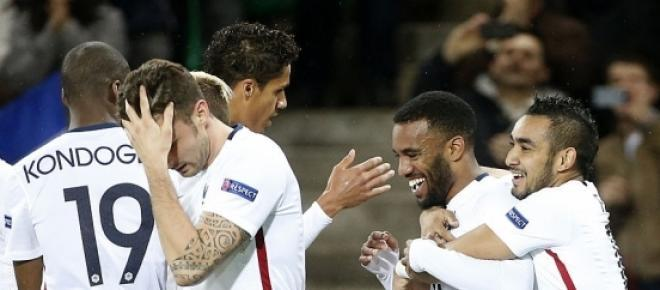 Lors du match contre le Danemark, l'Équipe de France a livré une superbe prestation au stade Geoffroy Guichard avec une victoire (2-0).<br />