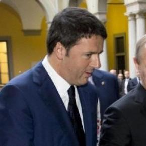 Matteo Renzi si Vladimir Putin