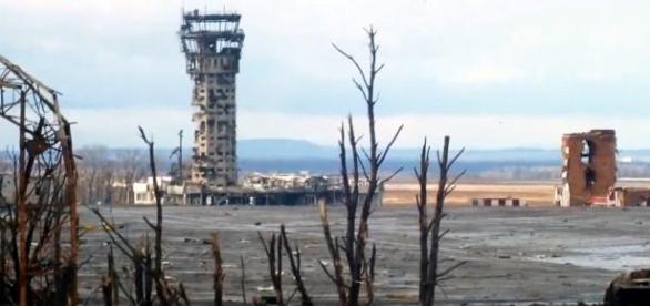Die Überbleibsel des Donezker Luxusflughafens