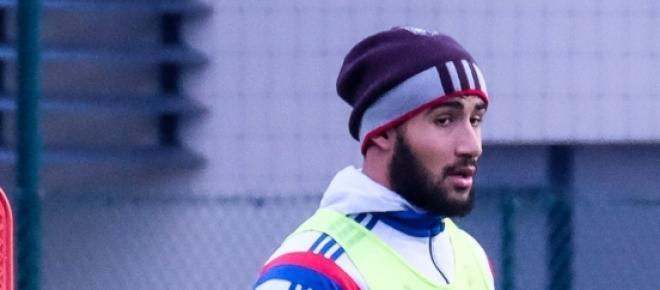 Nabil Fekir, à l'entrainement avec l'OL