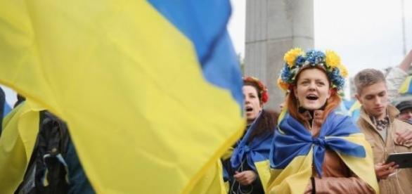 Demonstratie pro-Ucraina in Moscova