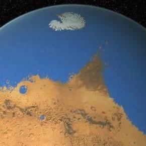 Cómo pudo ser Marte con agua