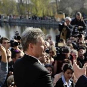 Orbán Viktor  termékbemutatót tartott Tapolcán