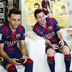 A Barcelona játékosai is imádják a FIFA-t!
