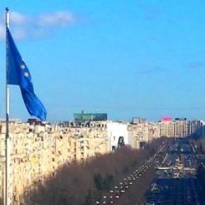 La Palatul Parlamentului - în balcon