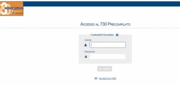 Come effettuare l 39 accesso al 730 precompilato su sito dell for Accesso agenzia entrate
