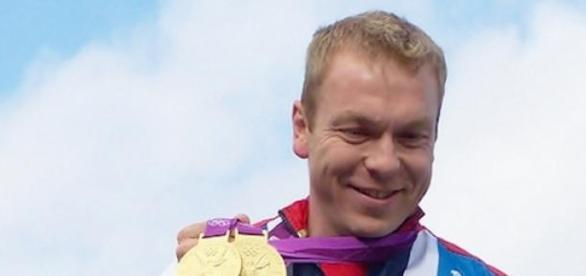 Sir Chris Hoy during his glorious Olympic career