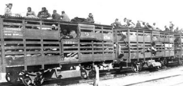 """Deportation von Armeniern auf der """"Baghdad-Bahn""""."""