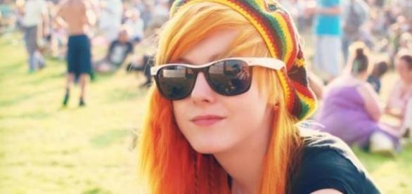 Foto publicada na página da jovem, em 2014.