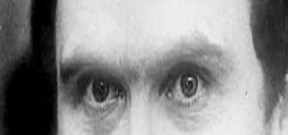 Augenpartie des Psychopathen & Mörders Ted Bundy