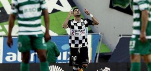 Zé Manuel marcou o golo do Boavista