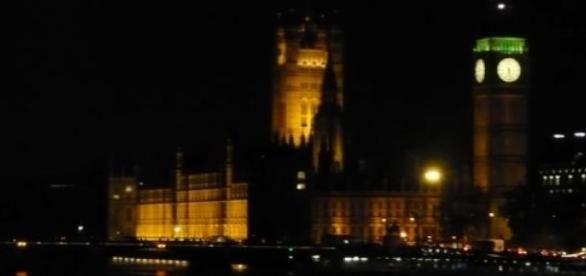 View of the Houses of Parliament by night