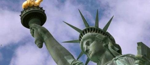 A szabadság asszonya és az amerikai arany láng.