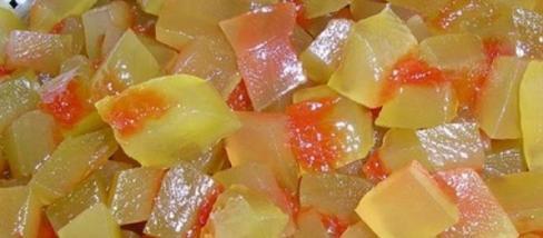 Görögdinnyehéj befőtt, a nagyon finom csemege.