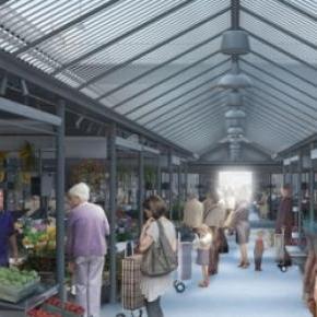 Vista do Mercado de produtos frescos do Bolhão.