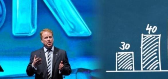 Sky-Chef Brian Sullivan verkündet Zahlen(Foto:Sky)