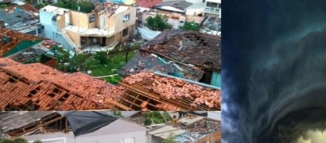 <p>Tornado deixa mais de mil desabrigados, 120 feridos e dois mortos no Brasil, em Santa Catarina, principalmente na cidade de Xanxerê.</p>    <p>Presidente Dilma Rousseff oferece ajuda o Governador de Santa Catarina, Raimundo Colombo.</p>