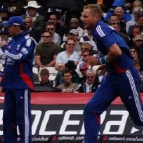 Broad's four wickets helped to dismiss West Indies