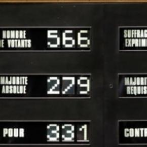 Un moment historique à l'Assemblée nationale.