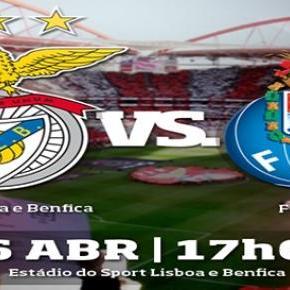 SL Benfica vs FC Porto, dia 26 de abril às 17h