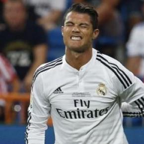 O joelho incomoda Cristiano Ronaldo
