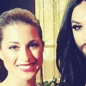 Ann-Sophie mit Conchita in London, Fotos: privat