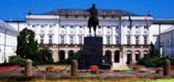 warzywniak przed Pałacem Prezydenckim - fotomontaż