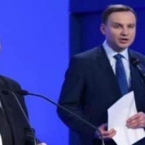 Jarosław Kaczyński i Andrzej Duda na konferencji.