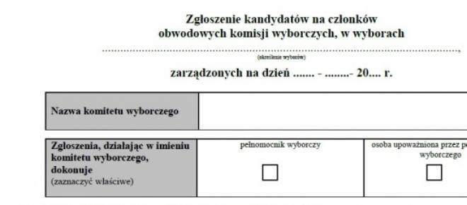 deklaracja kandydata na członka ObKW, PKW